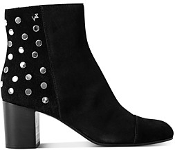 Zadig & Voltaire Women's Studded Suede Zipper Booties