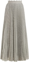 Missoni Pleated geometric-knit midi skirt