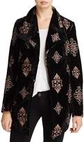Karen Kane Embroidered Velvet Jacket - 100% Exclusive