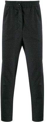 Ami Elasticated Waist Cropped Trousers