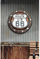 Open Road Brands 24 in. x 24 in. Route 66 Hollow Curved Tin Button Sign