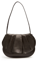 The Row Fan 12 pleated leather shoulder bag