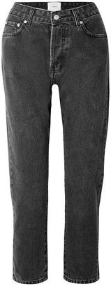 CASASOLA Cropped Mid-rise Straight-leg Jeans