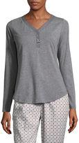 Liz Claiborne Long Sleeve Pajama Top