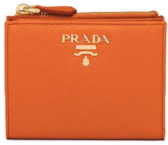 Prada Lettering Logo Compact Wallet