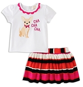 Kate Spade Girls' Cha Cha Cha Tee & Skirt Set - Baby