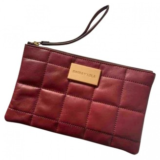 Bimba Y Lola Burgundy Leather Clutch bags