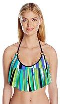 Trina Turk Women's Sunburst Crop Bikini Top