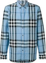 Burberry checked shirt - men - Cotton/Linen/Flax - L
