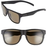 Smith Optics Women's 'Lowdown Xl' 58Mm Polarized Sunglasses - Matte Black/ Polarized Green
