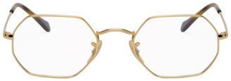 Ray-Ban Gold Hexagonal Icons Glasses