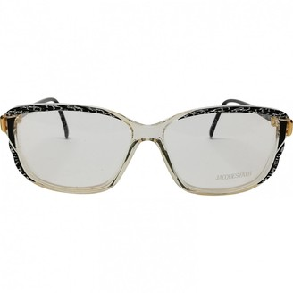 Jacques Fath Black Plastic Sunglasses