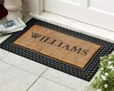 Williams-Sonoma Williams Sonoma Personalized Basketweave Rubber & Coir Doormats