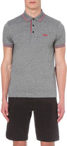 HUGO BOSS Striped-trim cotton-jersey polo shirt