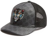 Gucci Angry Cat-embroidered Baseball Cap
