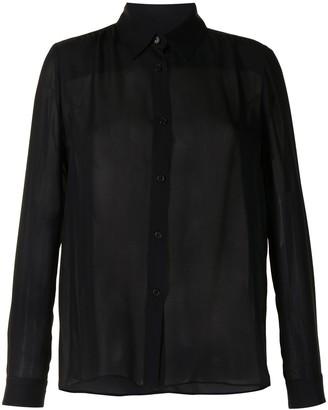 Nili Lotan Sheer Classic Shirt