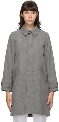 A.P.C. Black and Grey Houndstooth Dinard Coat