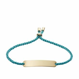 Fossil Women's Plaque Turquoise Nylon Bracelet One Size