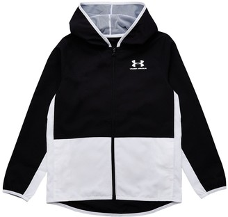 Under Armour ChildrensWoven Track Jacket - Black/White