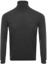 BOSS GREEN C Calvin Roll Neck Jumper Grey