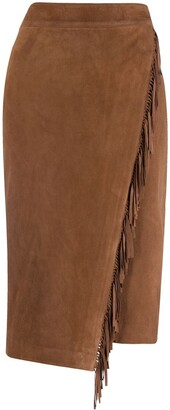 Veronica Beard Fringe Detail Pencil Skirt