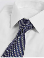 M&S Collection Longer Length Silk Rich Textured Tie
