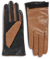 Kate Spade Colorblocked Leather Gloves
