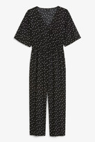 Monki Short-sleeved wrap jumpsuit