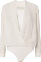 Michelle Mason Cross Front Bodysuit Blouse