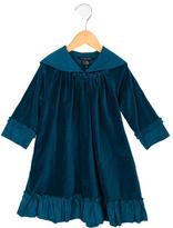 Little Marc Jacobs Girls' Ruffle-Trimmed Velvet Dress