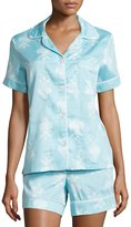 BedHead Chandelier-Print Short Pajama Set, Blue, Plus Size