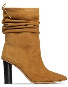 IRO Socky Gathered Suede Ankle Boots