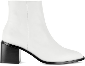 Clergerie Xenia 70 white leather ankle boots