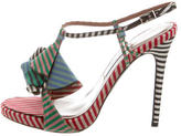 Tabitha Simmons Multicolor Striped Sandals