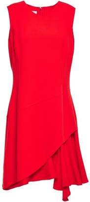 Oscar de la Renta Asymmetric Wool-blend Crepe Mini Dress