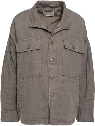 Joie Kendora Gathered Linen Jacket