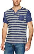 Buffalo David Bitton Men's Kipunk Short Sleeve Henley Stripe Fashion Knit Shirt