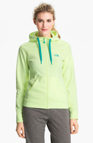 The North Face 'Fave-Our-Ite' Full Zip Hoodie Heather Grey/ Linaria Pink X-Small