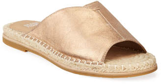 Eileen Fisher Milly Metallic Leather Espadrille Sandals