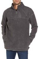NATIVE YOUTH Men's Warlock Faux Shearling Quarter Zip Sweater
