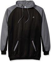 Russell Athletic Men's Big and Tall Performance Fleece Hoodie Sweatshirt, Black/Charcoal, 2XLT