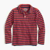 J.Crew Boys' medium striped long-sleeve polo