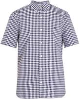 Burberry Short-sleeved gingham cotton shirt