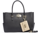 Tommy Hilfiger Turnlock Saffiano Satchel With Coin Purse