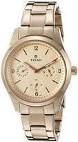 Titan Women's 9962WM01 Purple Analog Display Quartz Rose Gold Watch