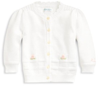 Ralph Lauren Baby Girl's Scalloped Hand-Embroidered Cardigan