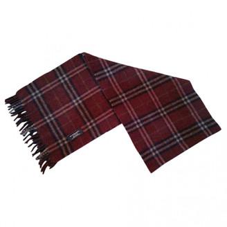 Burberry Burgundy Wool Scarves