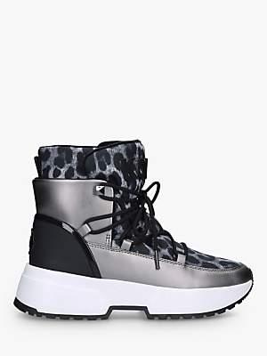 Michael Kors MICHAEL Cassia Leopard Print Snow Boots, Grey