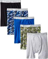 Fruit of the Loom Men's 5-Pack No Ride Up Camo & Solid Boxer Brief
