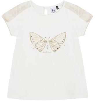 3 Pommes Kid Girl Broken White Tee-Shirt
